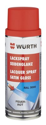 Würth Lackspray Farbe LKSPR-R3000-FEUERROT-SEIDGLANZ-400ML 1 Stück
