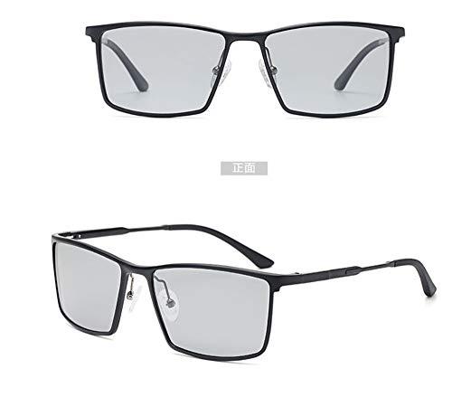 KOMNY Quadratisch polarisierte Sonnenbrille Männer Sonnenbrille Hipster Fahrfahrer Brille 2018 neue Farbe fahren Auge Flut, E