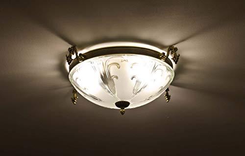 Jugendstil Lampe / Deckenleuchte rund / gold / 3x E27 bis 60Watt 230V / Deckenlampe 40cm / Lampe...