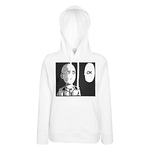 Sweat à Capuche One Punch Man NB OK Anime Manga Tissu Leger Polyester
