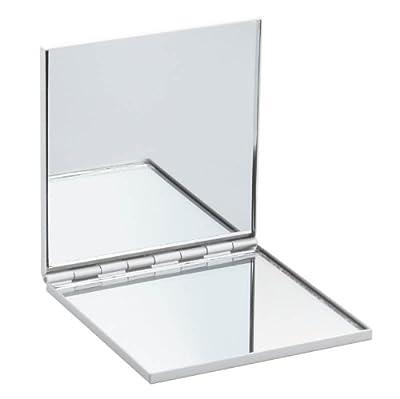 Platz Aluminium Doppel-Compact Handtasche Spiegel