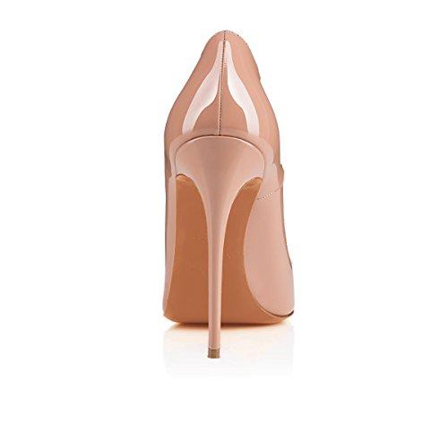 Arc-en-Ciel Damenschuhe Stilett-Absatz spitzen Zehepumpe Nude