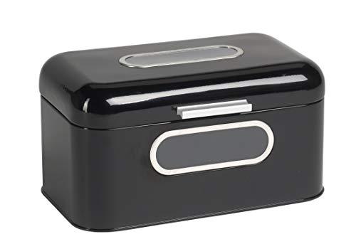 """ECHTWERK Brotkasten, Brotbox, aus Metall, """"smal"""",schwarz, 30 x 20 x 16,5 cm"""