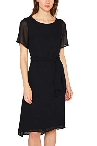 ESPRIT Collection Damen 079EO1E008 Kleid, Schwarz (Black 001), (Herstellergröße: 38)