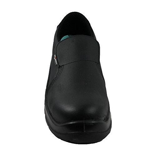 Aimont S2 SRC Sicherheitsschuhe Arbeitsschuhe Kochschuhe Laborschuhe flach schwarz Schwarz