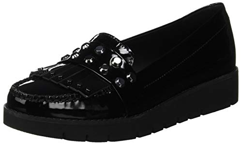 Geox d blenda b, mocassini donna, nero (black c9999), 39 eu