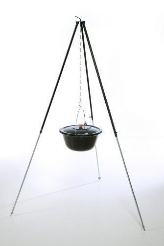 acerto original ungarisches Dreibein 1,80 m mit 14 L Gulaschkessel und Deckel doppelt emailliert