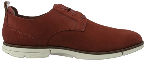 Clarks Trigen Lace, Derby Homme Marron (BRICK)