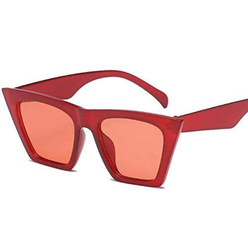 GAOHAITAO Small Cat Eye Triangle Sunglasses Women Frame Tint Red Mirror Lens Cheap Sun Glasses,Style 2