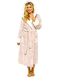 54d2cfb4d3 KATE MORGAN Ladies Luxury Soft   Cosy Hooded Dressing Gown