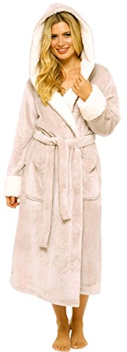 - 31ezlgEdLyL - KATE MORGAN Ladies Luxury Soft & Cosy Hooded Dressing Gown