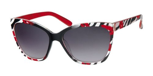 Cadre imprimé zèbre Kiss rouge Wayfarer Lunettes de soleil Noir, sans  objectif, avec cordon 6de024268aa0