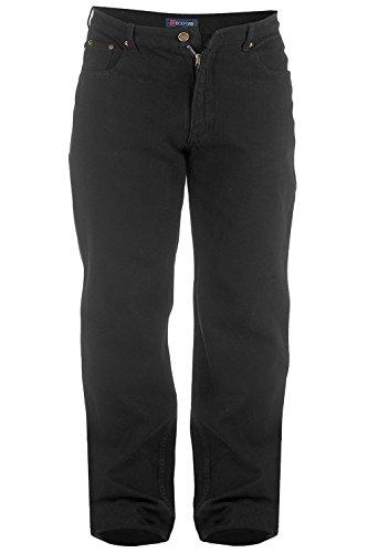 Hochwertige Jeans, Herren, sehr lang, 96,5cm Innenbeinlänge Schwarz