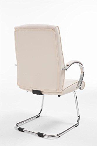 CLP Besucher Freischwinger-Stuhl BASEL V2 mit Armlehne, gepolstert creme - 4