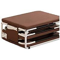 Refuerzo al aire libre cama plegable única cama cuatro veces esponja con patas plegables automáticas para