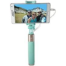 Selfie Stick disparador remoto extensible monopié con espejo de acero inoxidable para Android y iOS smartphone
