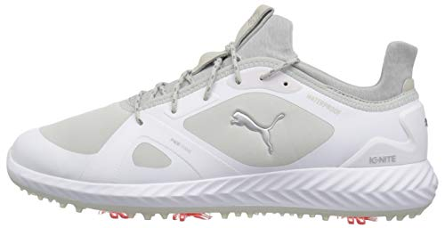 PUMA Golf Men s Ignite Pwradapt Golf Shoe  White-Gray Violet  7 5 M US