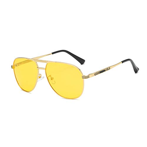 TJLY Unisex polarisierte nachtsicht Sonnenbrille Sonnencreme Platz Metall Brille Pilot Outdoor Shopping Reise,nightvisiongoggles