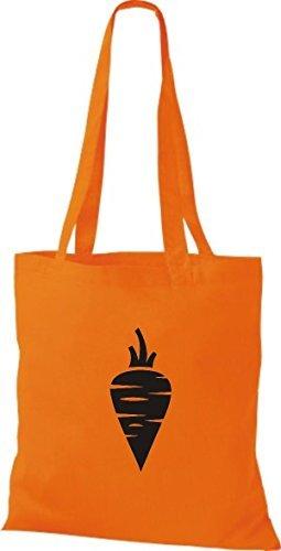 T-shirt Di Stoffa Di Cotone Tinta Unita La Tua Frutta E Verdura Preferita Rapa Carota Di Colore Rosa Arancione