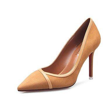 Zormey Les Talons Des Femmes Printemps Été Automne Chaussures Club Comfort Fleece Office &Amp; Partie De Carrière &Amp; Tenue De Soirée Stiletto Heel Split Marche Commun Nous6.5-7 Chameau / Eu37 / Uk4 5-5 /