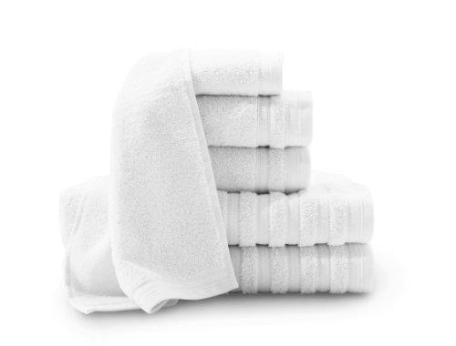 BALTIC LINEN Baltischer Leinen Company Pure Eleganz aus 100% Türkische Baumwolle 6Luxus Handtuch Set, bright white, 1 (Supima-baumwolle Bath Sheet)
