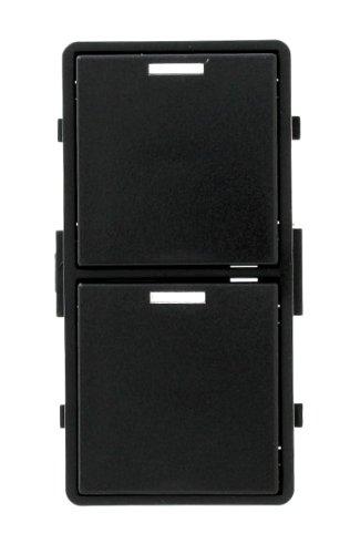 Leviton VRKIT-DSE Vizia RF + 2-Button Scene Controller Color Change Kit with LEDs for VRCS2, Black by Leviton (Leviton Controller)