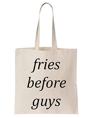 KRISSY Fries Before Guys Love Friends Funny Cool Happy Schultertasche Tote Bag - French White-mug