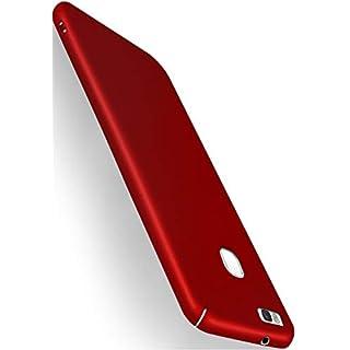 moex® Backcover [Ultra-Slim Design] passend für Huawei P9 Lite | Stabile Hartschale mit optimalem Stoß- und Kratzschutz - Matt Metallic Rot