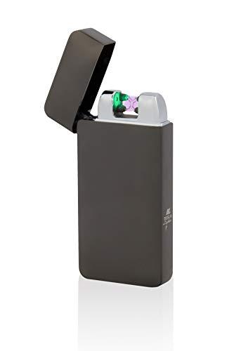 TESLA Lighter T10 Lichtbogen-Feuerzeug mit Photosensor, elektronisches USB Feuerzeug, Double-Arc Lighter, wiederaufladbar, Schwarz