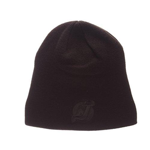 Zephyr Blackout Edge Schwarz Tonal Skull Cap-NHL Ohne Winter Knit Beanie Toque Hat, New Jersey Devils New Era Toque