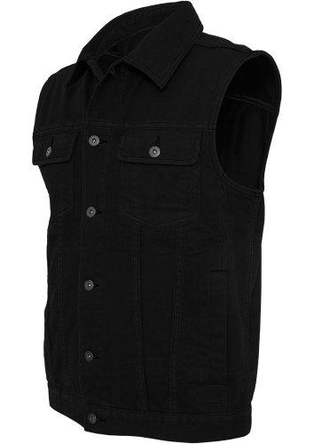 Urban Classics Gr. S Herren Denim Vest TB 514 Regular Fit  - Black Raw - XL