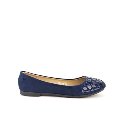 Cendriyon, Ballerine Blue VERSANA Chaussures Femme Bleu