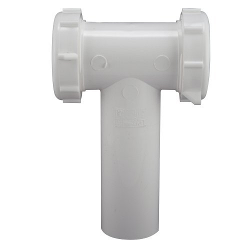 Keeney 130WK 1-1/2-Inch Slip Joint Center Outlet Tee and Tailpiece, White by Keeney Manufacturing -