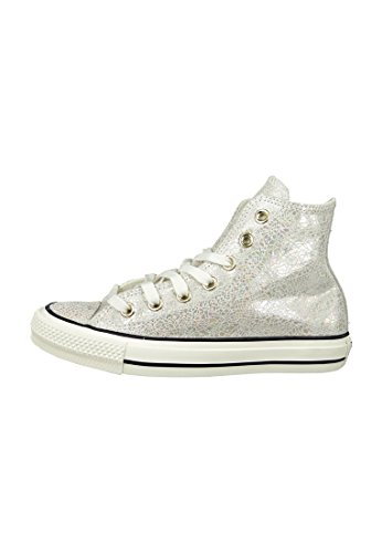 Converse Mandrini All Star Chuck Taylor Oil Slick cuoio 551589C Beige Nero Garzetta weiß metallic
