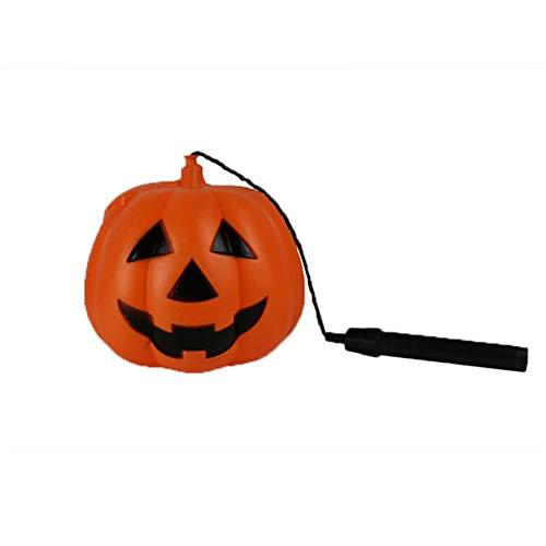 (Hand Halloween Kürbis-Laterne batteriebetriebenes LED-Licht für Props Party Supplies-Batterie wird mitgeliefert)