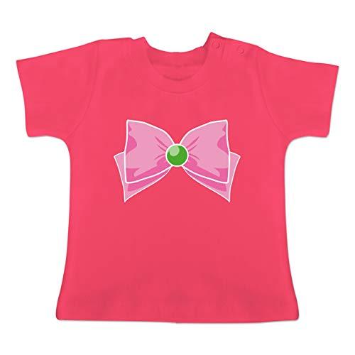 2 Kostüm Für Paare Gruppe - Karneval und Fasching Baby - Superheld Manga Jupiter Kostüm - 1-3 Monate - Fuchsia - BZ02 - Baby T-Shirt Kurzarm