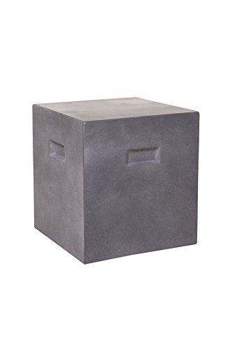 Vivanno Beton Beistelltisch Tisch Hocker Sitzhocker Eckig Sitta 40 x 37 x 37 cm, Grau