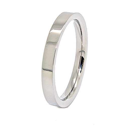 3mm Classic Flat Titanium Wedding Band (See Listing for Sizes)