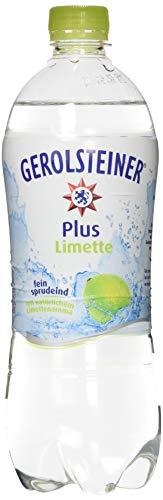 Gerolsteiner Plus Limette / Natürliches Mineralwasser mit sprudelnder Kohlensäure, kombiniert mit fruchtigem Limetten Aroma / 6 x 0,75 L PET Einweg Flaschen - Natürliches Mineralwasser