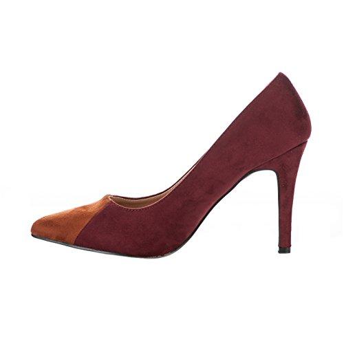 Escarpins femme - VANESSA WU - Rouge brique - EC1424 - Millim Rouge