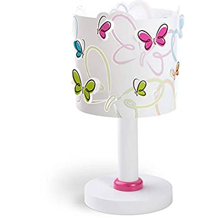 Dalber Kinder Tischlampe Schmetterlinge Butterfly, Kunststoff, mehrfarbig