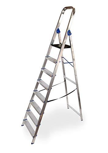 Escalera domestica de aluminio Altipesa Aluminio, 8 PELDAÑOS