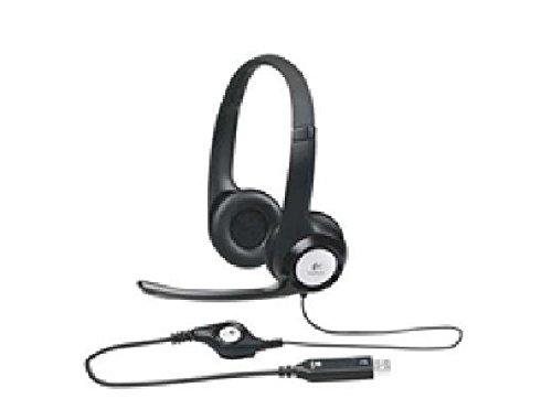 USB Headset H390 Komfortables Stereo-Headset mit weich gepolstertem Kopfbügel und weich gepolsterten Ohrmuscheln fürstundenlangen Tragekomfort, flexiblem und drehbarem (Headset H390 Usb Logitech)