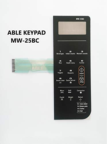 ABLE MW25BC Microwave Oven Membrane Keypad MW-25BC