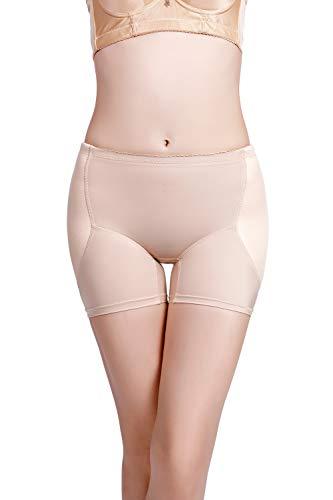 Hanfashion donna pancia controllo mutande imbottita enhancer butt addome intimo modellante shapewear butt lifter intimo imbottita corpo shaper (s, albicocca)