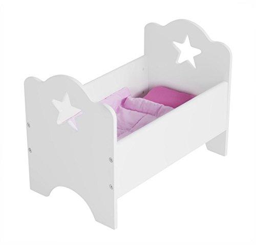 Preisvergleich Produktbild Kids Concept- Großes Puppenbett STAR Kinderzimmer Kinder Holzmöbel Sterne- 50x30x34cm, Weiß