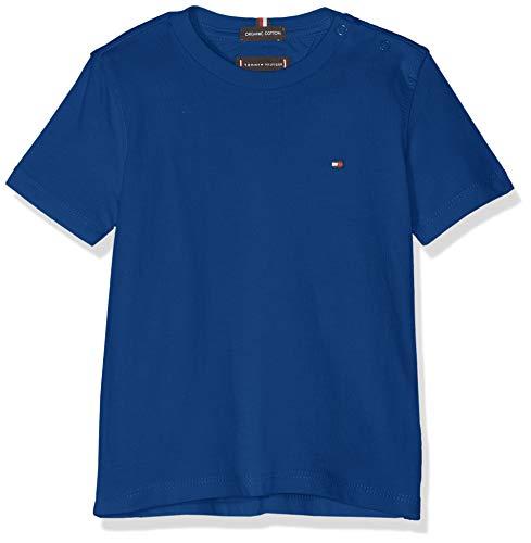 Tommy Hilfiger Baby - Jungen Essential ORIGINAL CTTN Tee S/S T-Shirt, per Pack Blau (Limoges 484), 86 (Herstellergröße: 86)