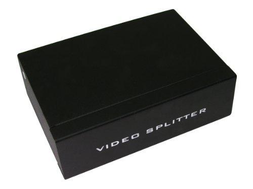 World of Data - Divisore SVGA / VGA 4 porte di qualità professionale - PC o computer portatile al televisore LCD, al plasma o un proiettore