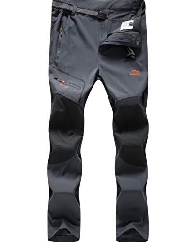 DENGBOSN Pantalones Senderismo Hombres Ropa