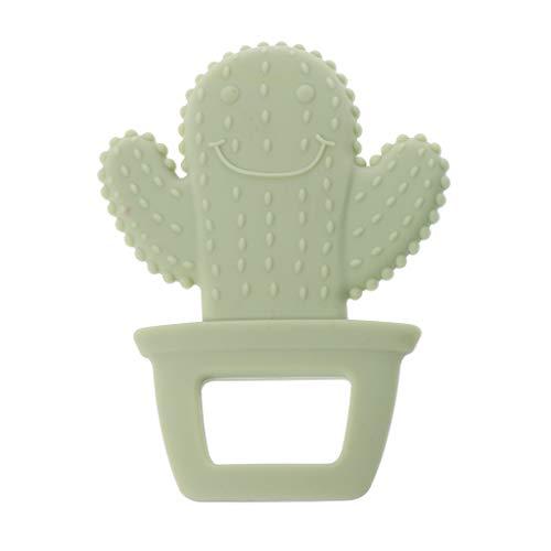Longsw Niedliche Kaktus Baby Beißring Schnuller Kinderkrankheiten Pflege Silikon BPA Frei Halskette Spielzeug